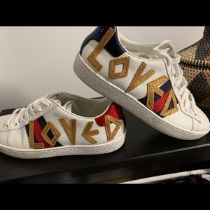 Gucci Loved White Sneakers